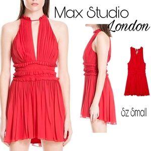 Max Studio London Pleated Crepe Dress. Sz S